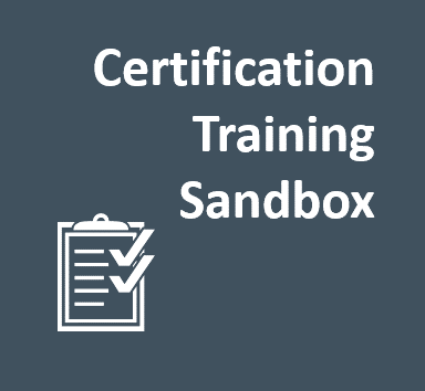 Certification Training Sandbox
